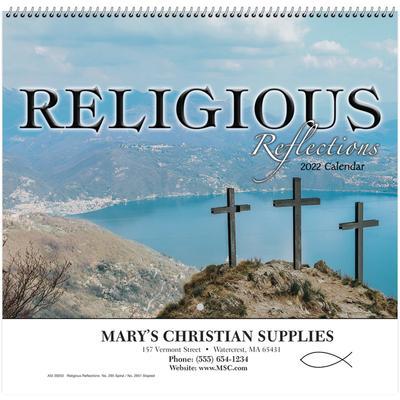 2022 Christian Calendar.Religious Reflections Wall Calendar Spiral 2022 Beacon Promotions